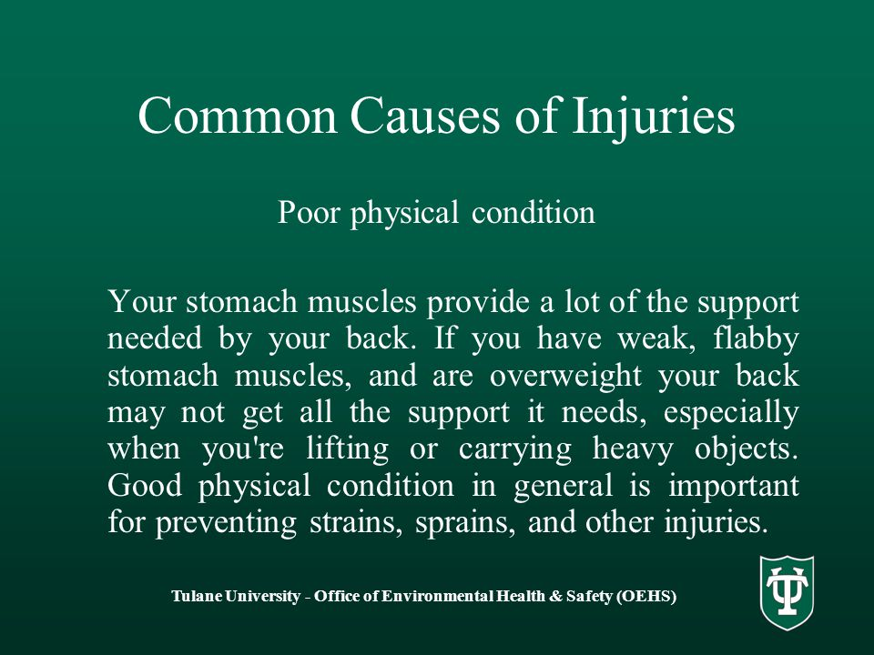 Common Causes of Injuries