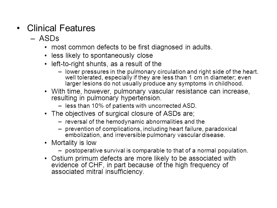Clinical Features ASDs