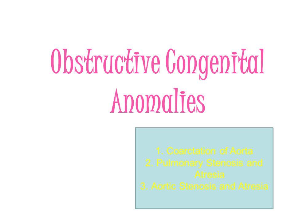 Obstructive Congenital Anomalies