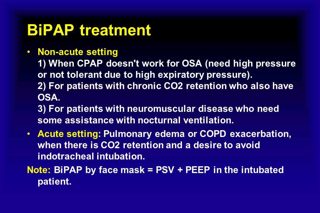 BiPAP treatment