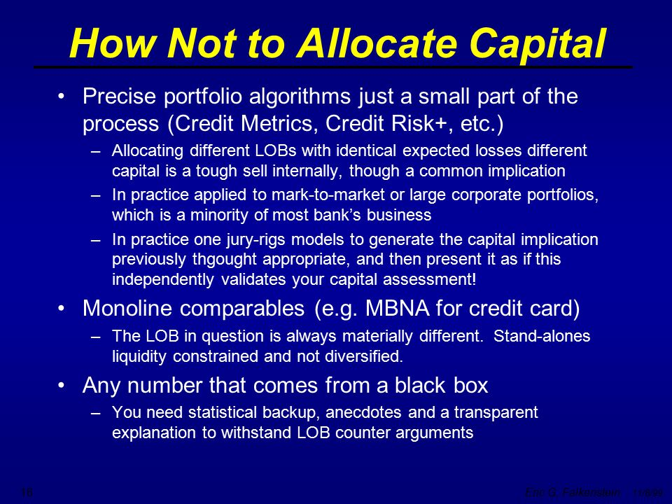 How Not to Allocate Capital