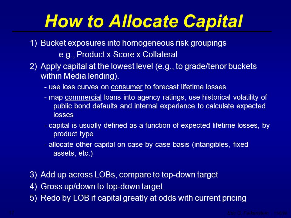 How to Allocate Capital