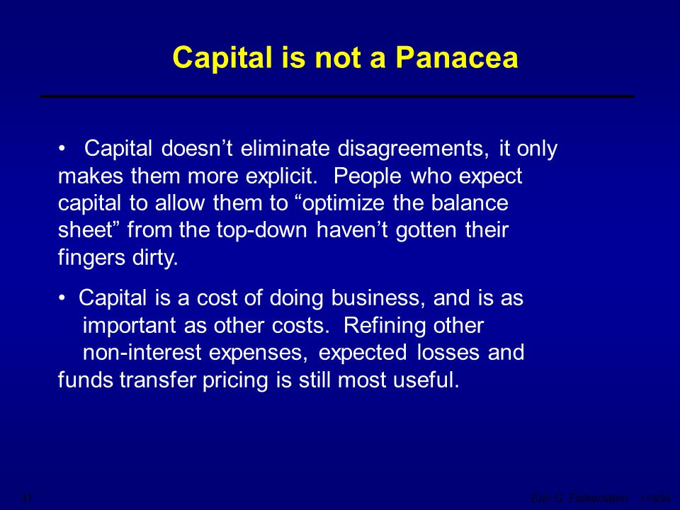 Capital is not a Panacea
