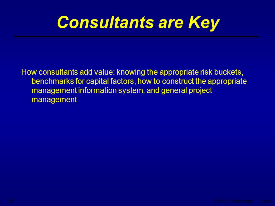 Consultants are Key