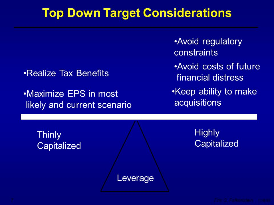 Top Down Target Considerations