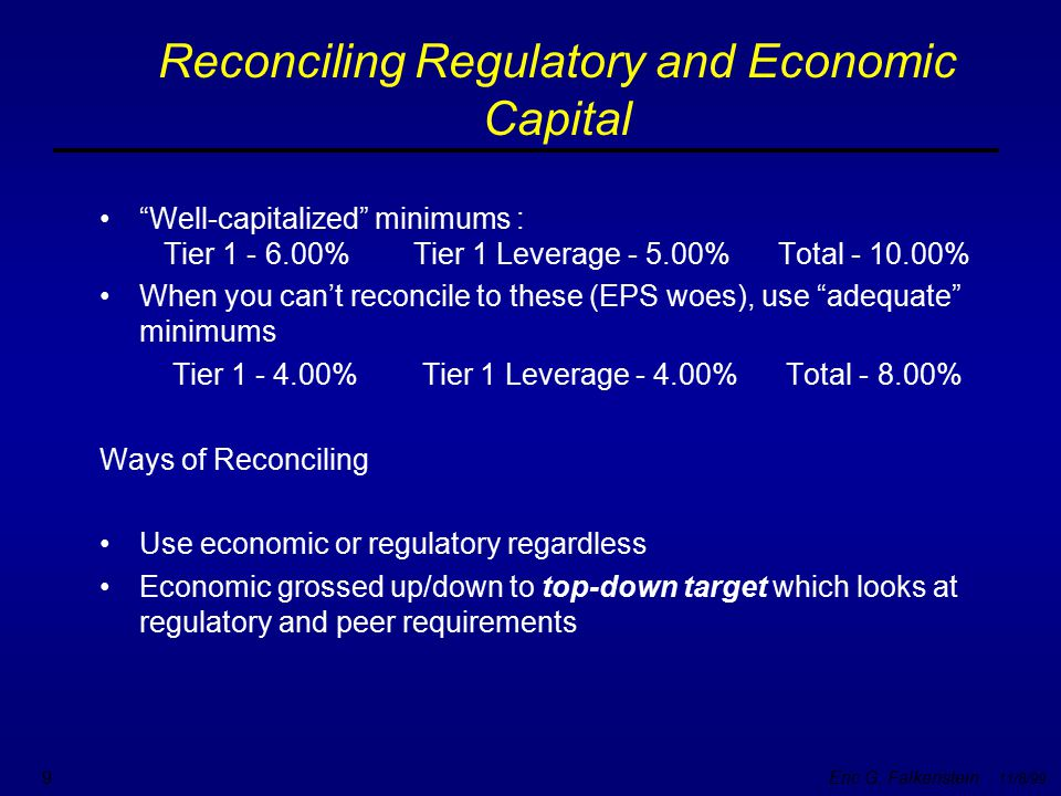 Reconciling Regulatory and Economic Capital