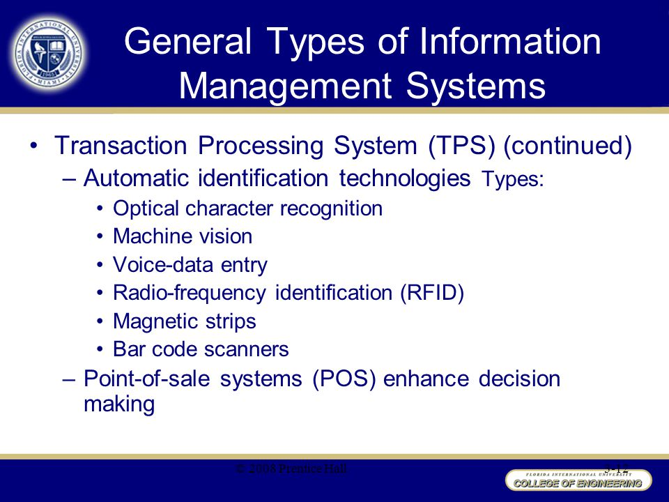 types of management information Isr (c) 1385 dr ghaebi 14 types of systems at the 4 levels (cont) level two (management level)-management information system (mis): inputs: summary transaction data.