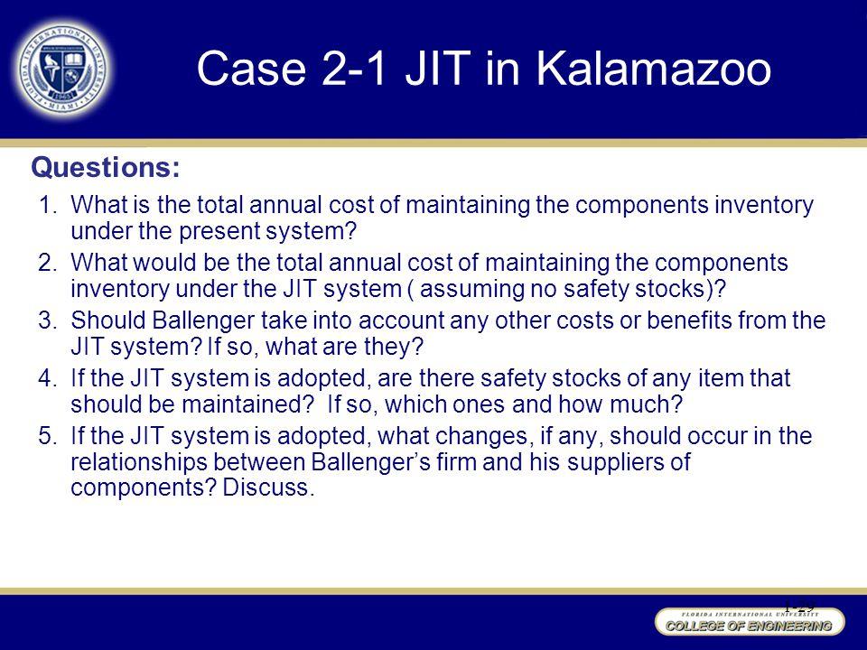 Case 2-1 JIT in Kalamazoo Questions: