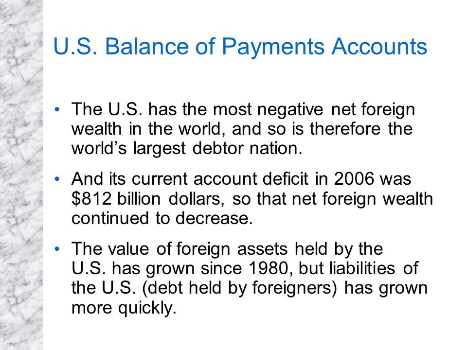 U.S. Balance of Payments Accounts