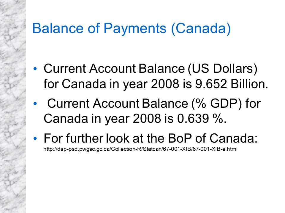 Balance of Payments (Canada)