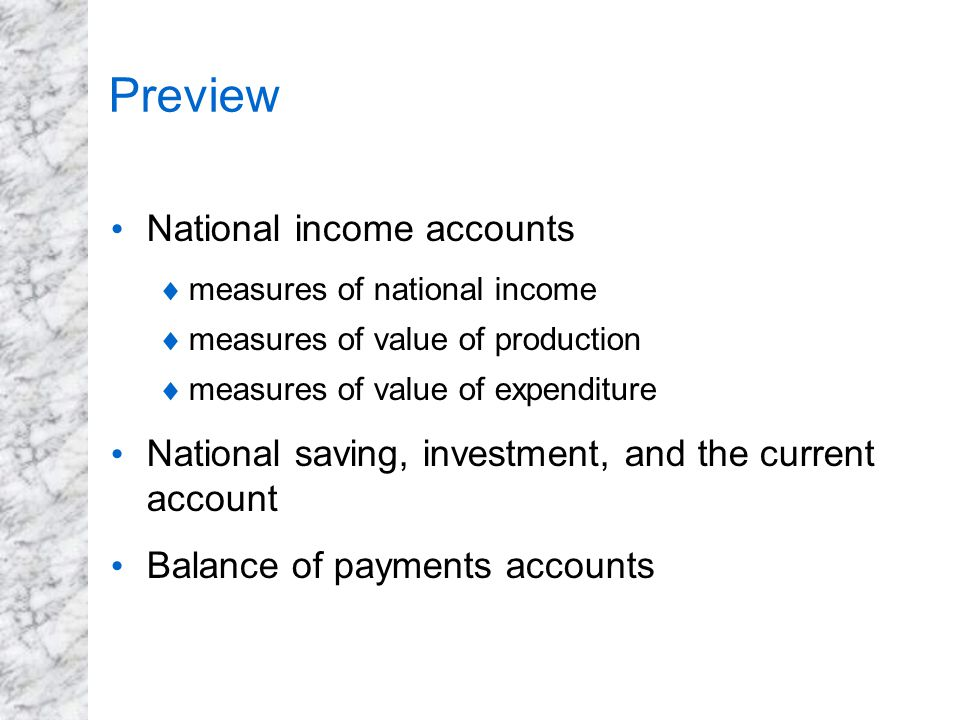Preview National income accounts