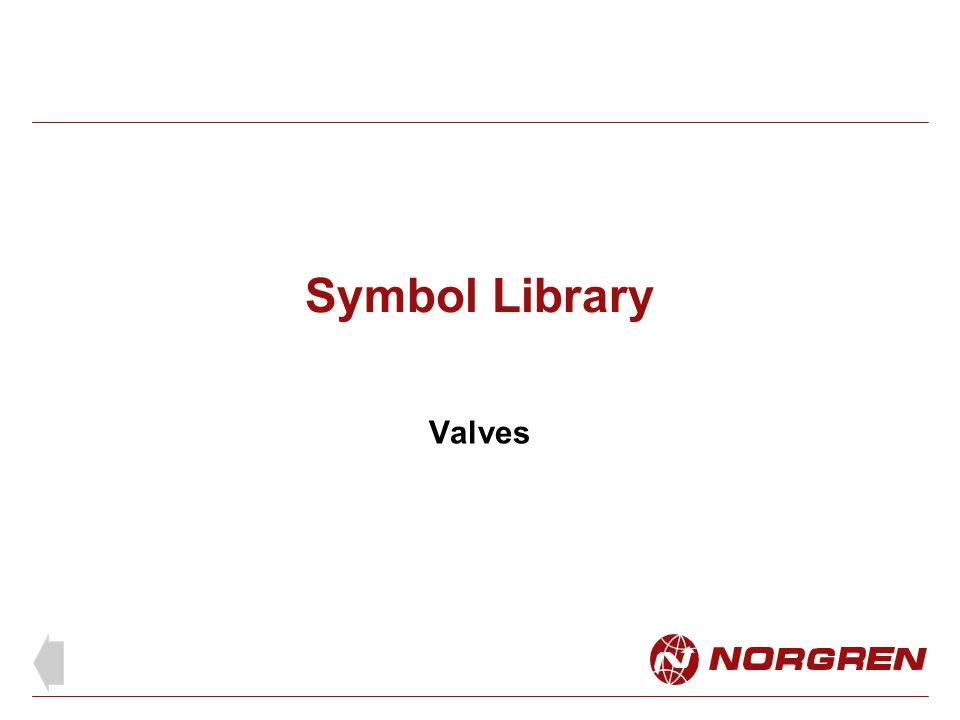 Symbol Library Valves