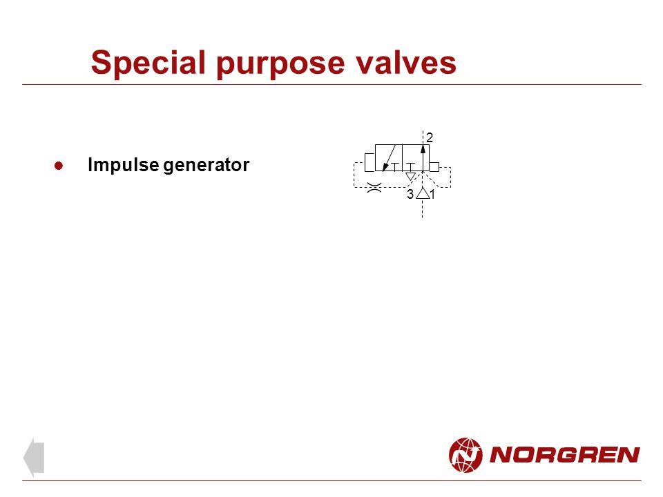 Special purpose valves
