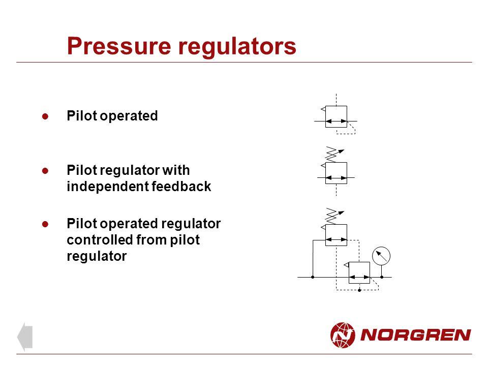 Pressure regulators Pilot operated