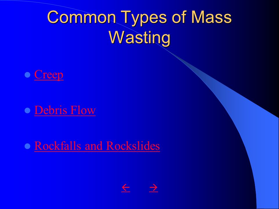 Common Types of Mass Wasting