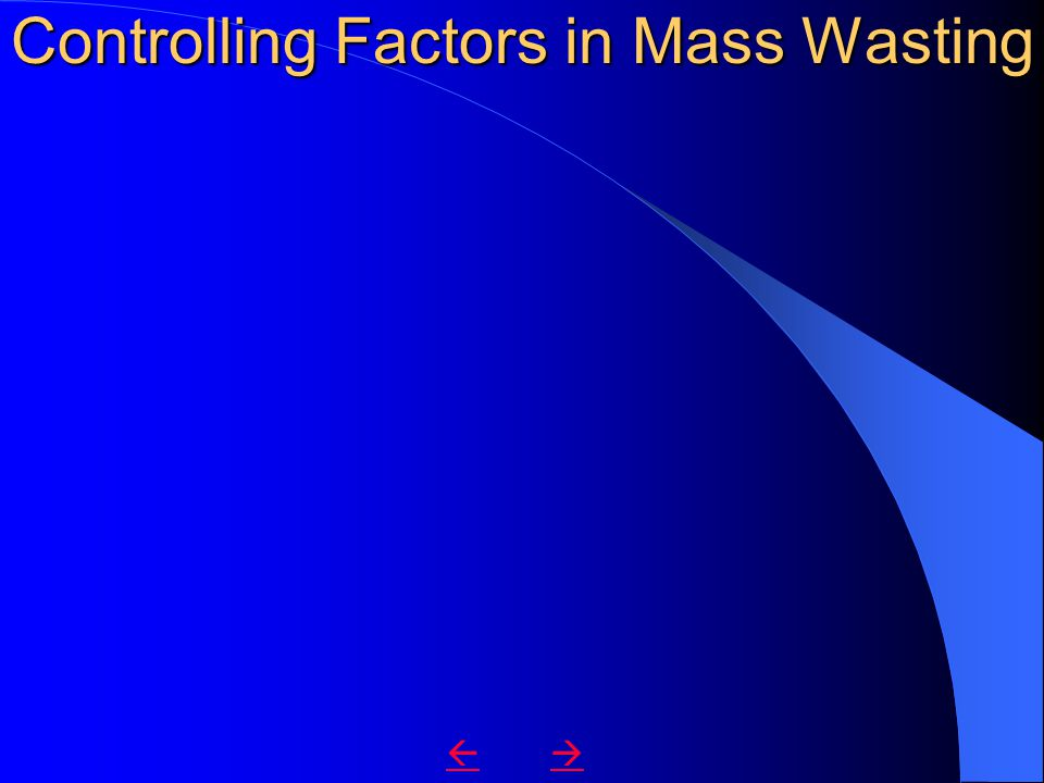Controlling Factors in Mass Wasting