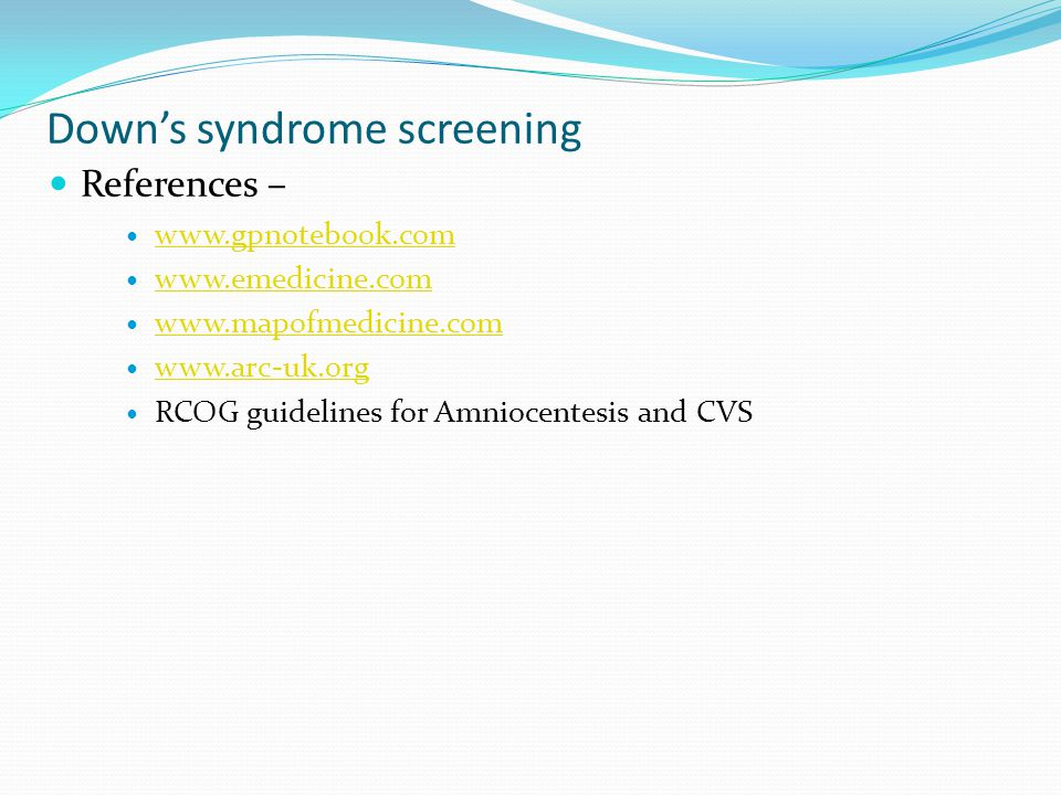 Down's syndrome screening