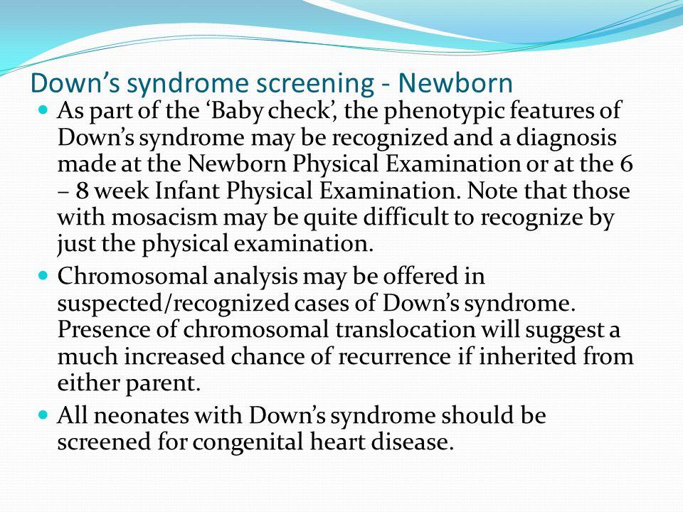 Down's syndrome screening - Newborn