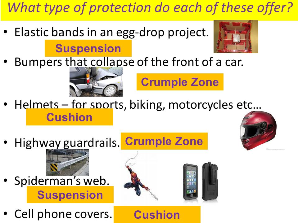 What type of protection do each of these offer