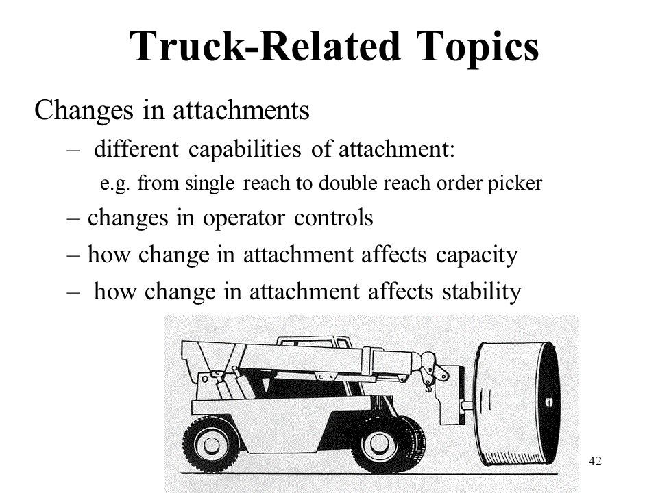 Truck-Related Topics Changes in attachments