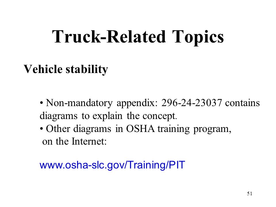 Truck-Related Topics Vehicle stability