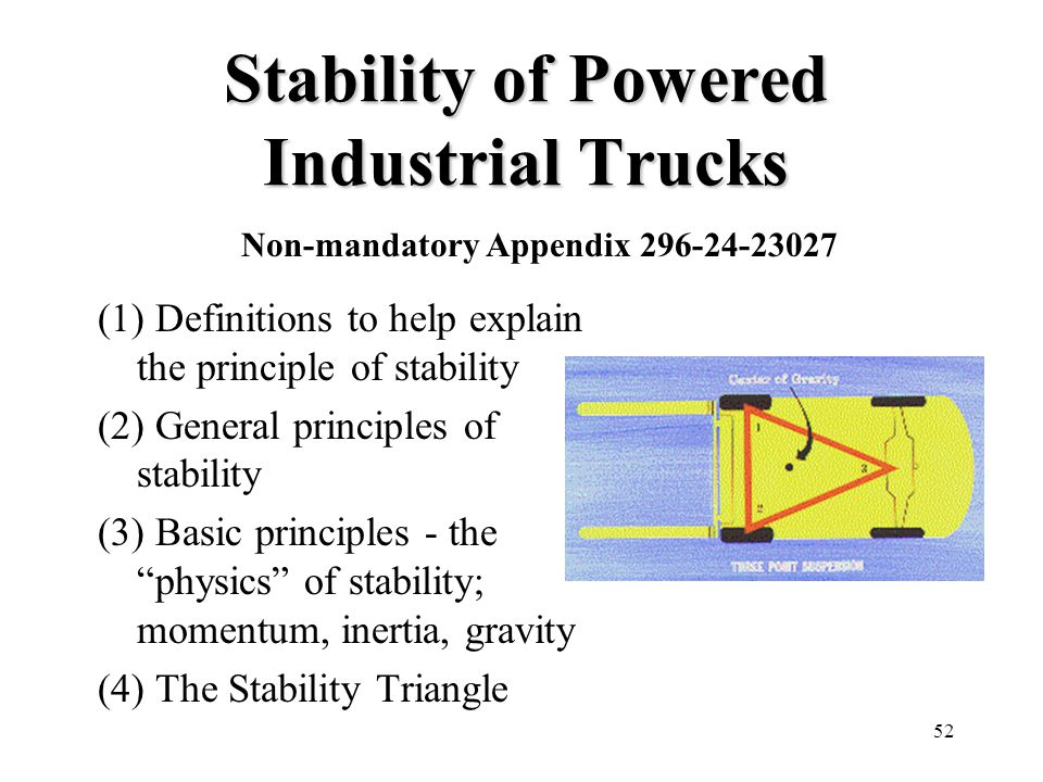 Stability of Powered Industrial Trucks
