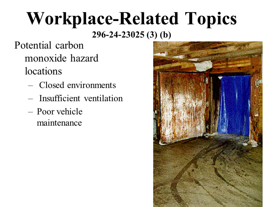 Workplace-Related Topics 296-24-23025 (3) (b)