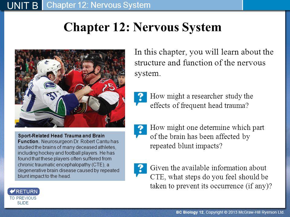 Chapter 12: Nervous System