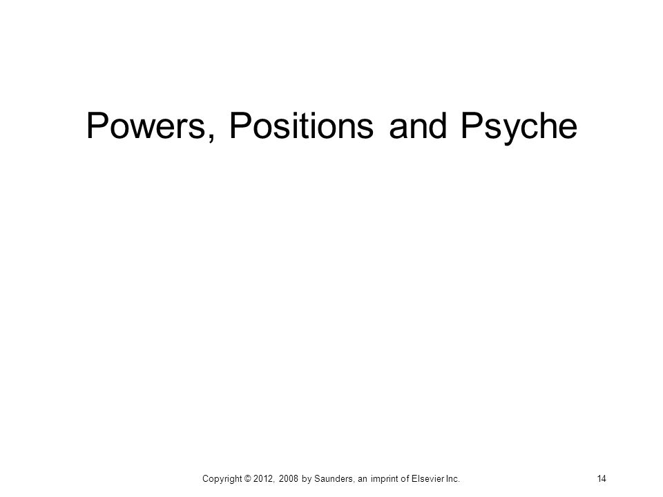 Powers, Positions and Psyche