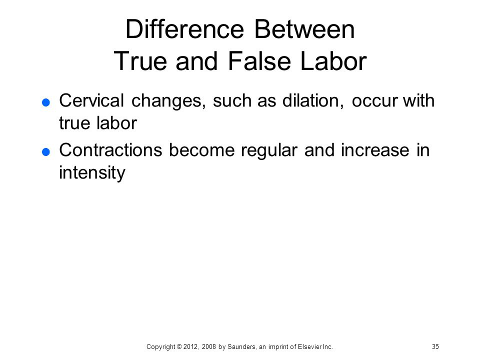 Difference Between True and False Labor