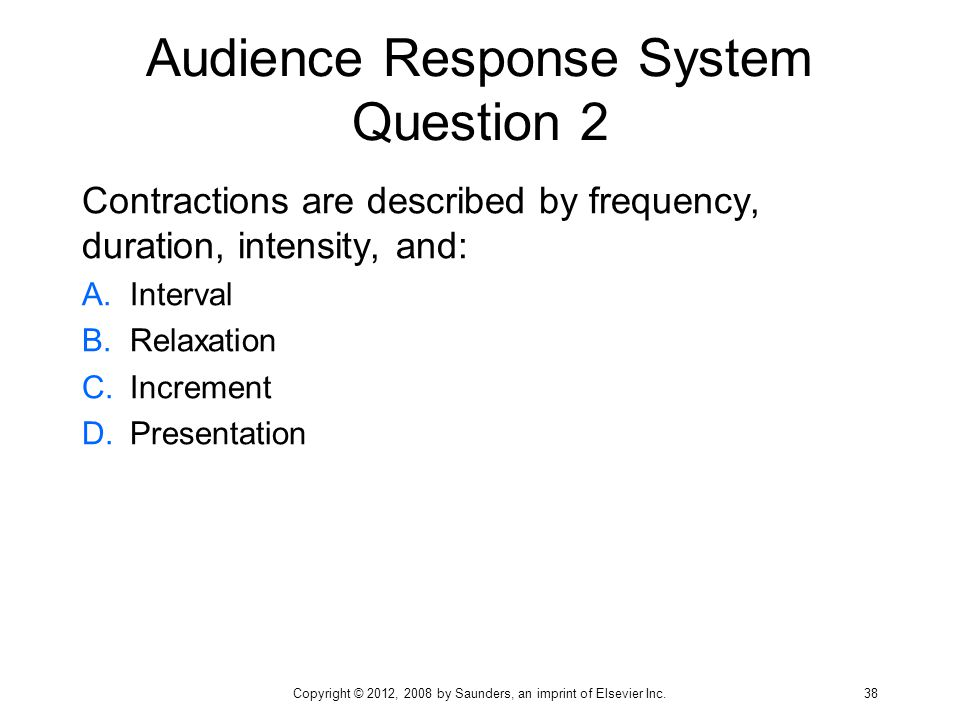 Audience Response System Question 2