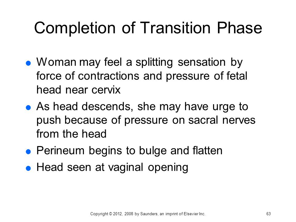 Completion of Transition Phase