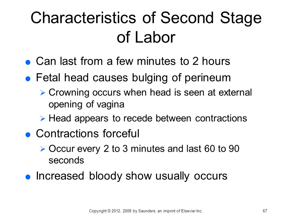 Characteristics of Second Stage of Labor