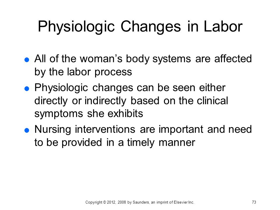 Physiologic Changes in Labor