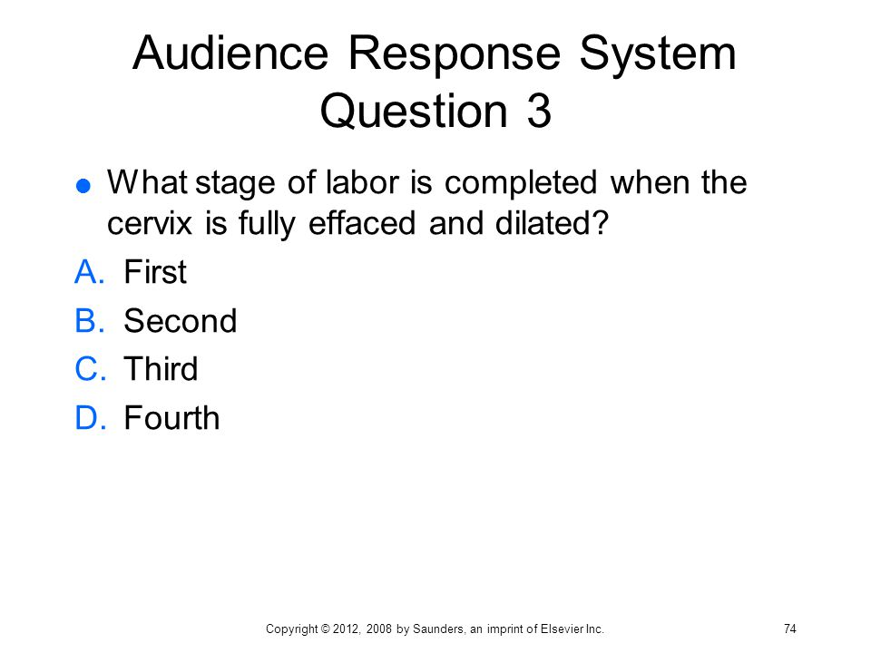 Audience Response System Question 3
