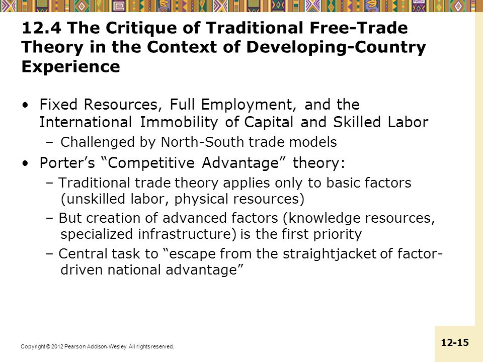 12.4 The Critique of Traditional Free-Trade Theory in the Context of Developing-Country Experience