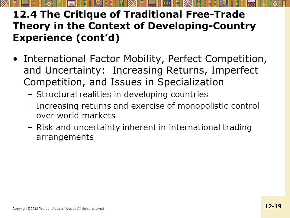 12.4 The Critique of Traditional Free-Trade Theory in the Context of Developing-Country Experience (cont'd)