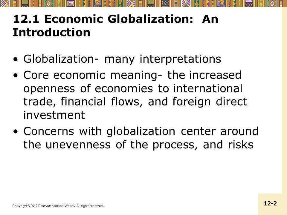 12.1 Economic Globalization: An Introduction
