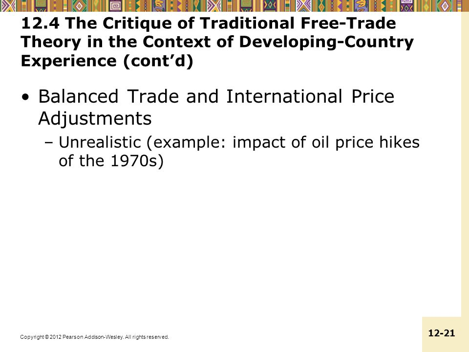 Balanced Trade and International Price Adjustments
