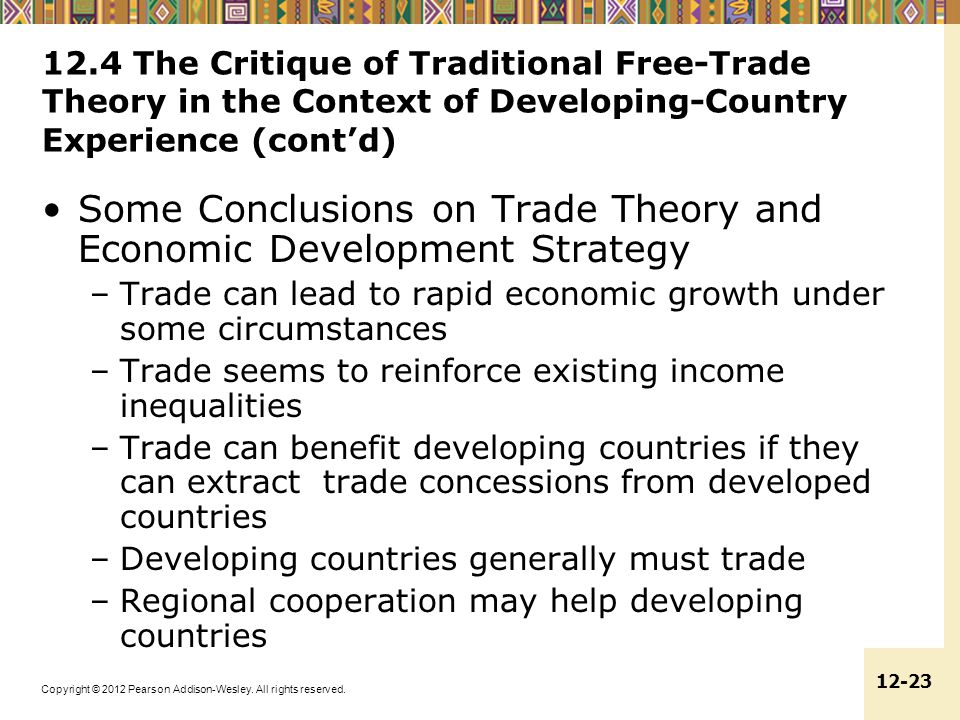 Some Conclusions on Trade Theory and Economic Development Strategy
