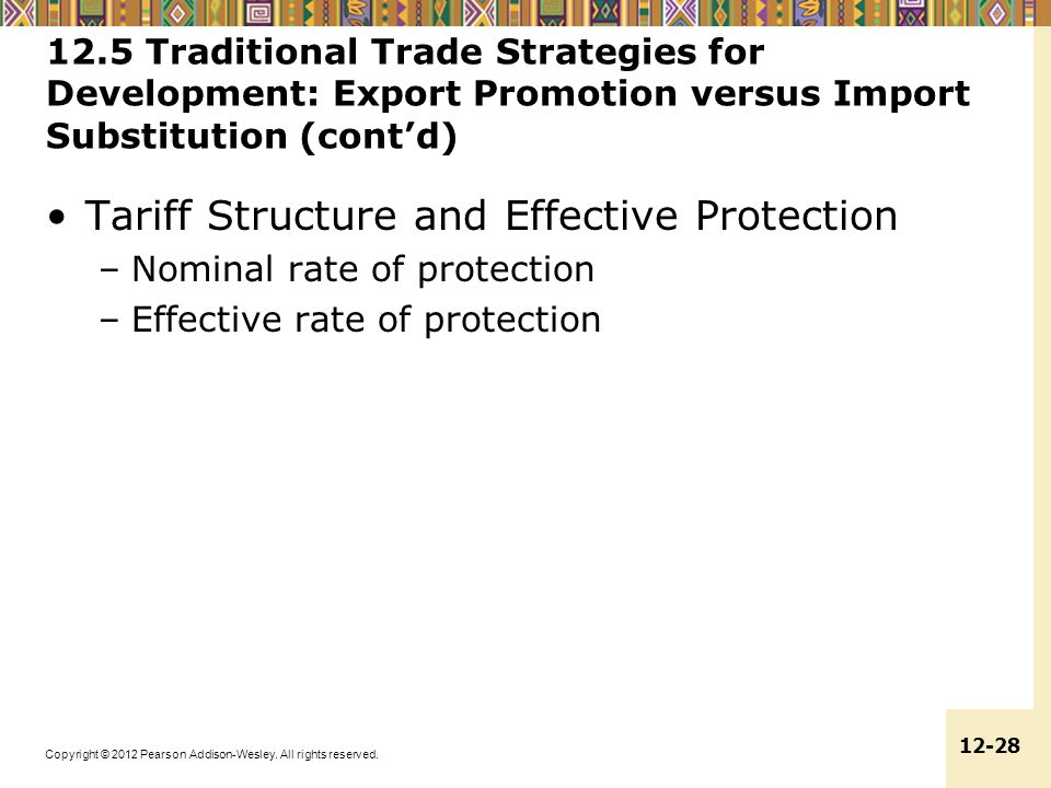 Tariff Structure and Effective Protection