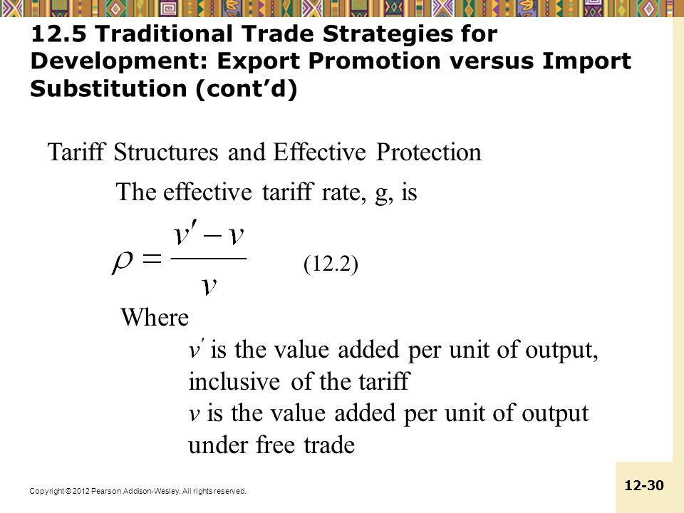 Tariff Structures and Effective Protection