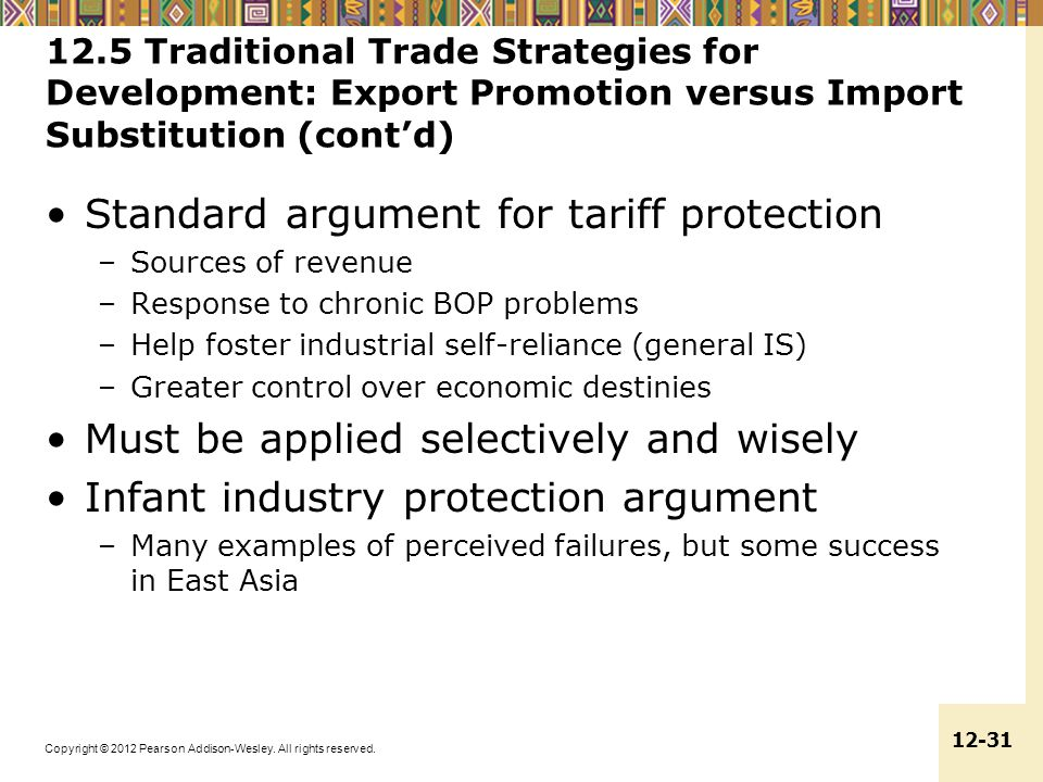 Standard argument for tariff protection
