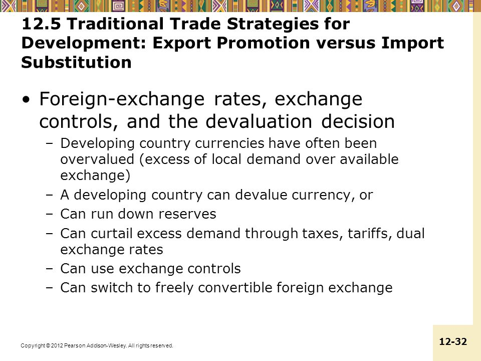 12.5 Traditional Trade Strategies for Development: Export Promotion versus Import Substitution