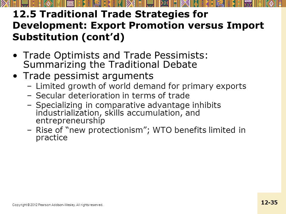 Trade pessimist arguments