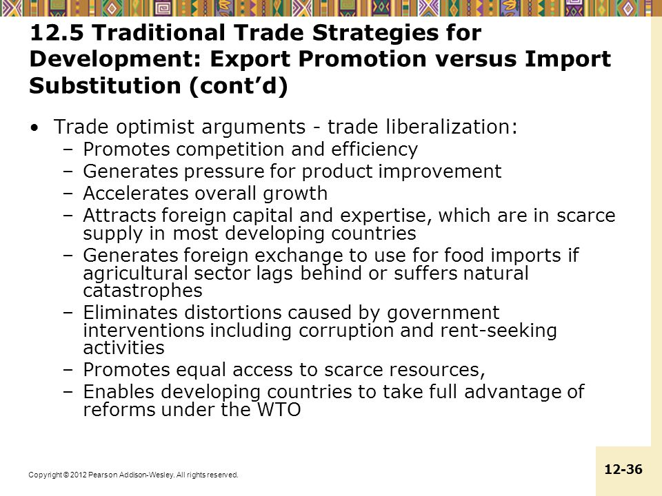 12.5 Traditional Trade Strategies for Development: Export Promotion versus Import Substitution (cont'd)