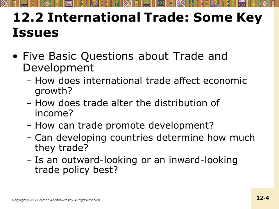 12.2 International Trade: Some Key Issues