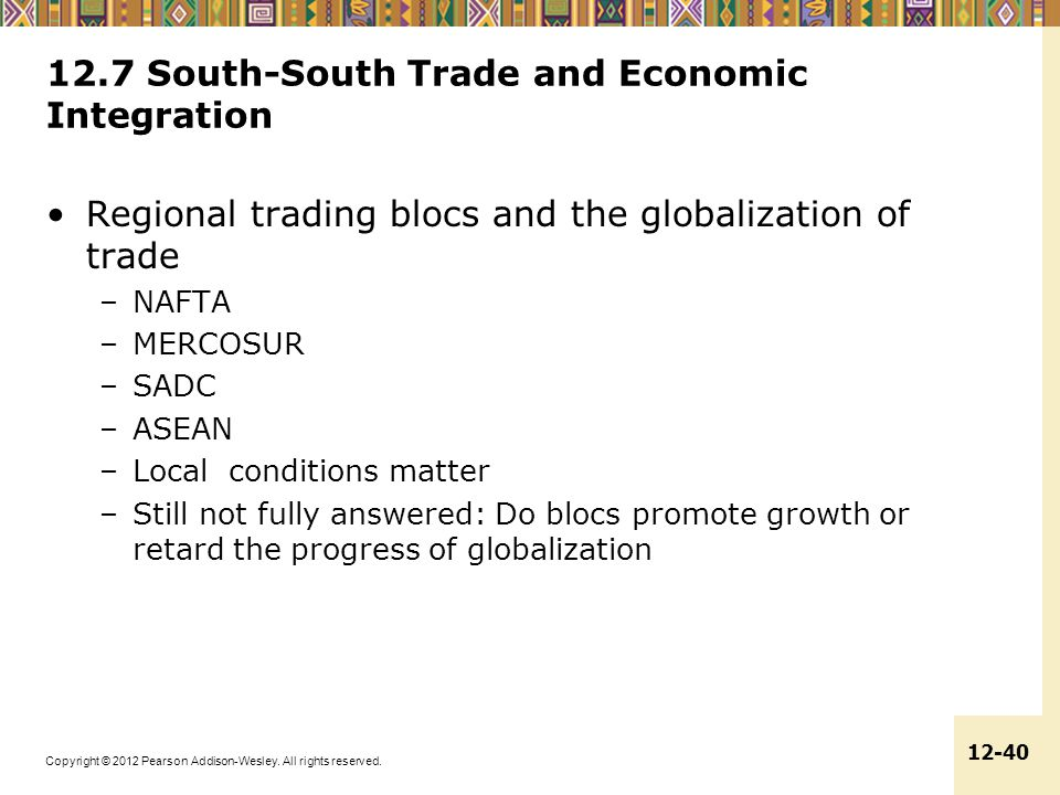 12.7 South-South Trade and Economic Integration