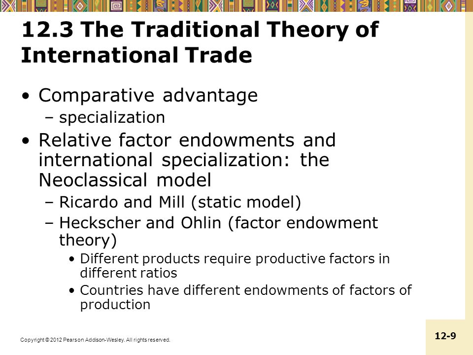 12.3 The Traditional Theory of International Trade
