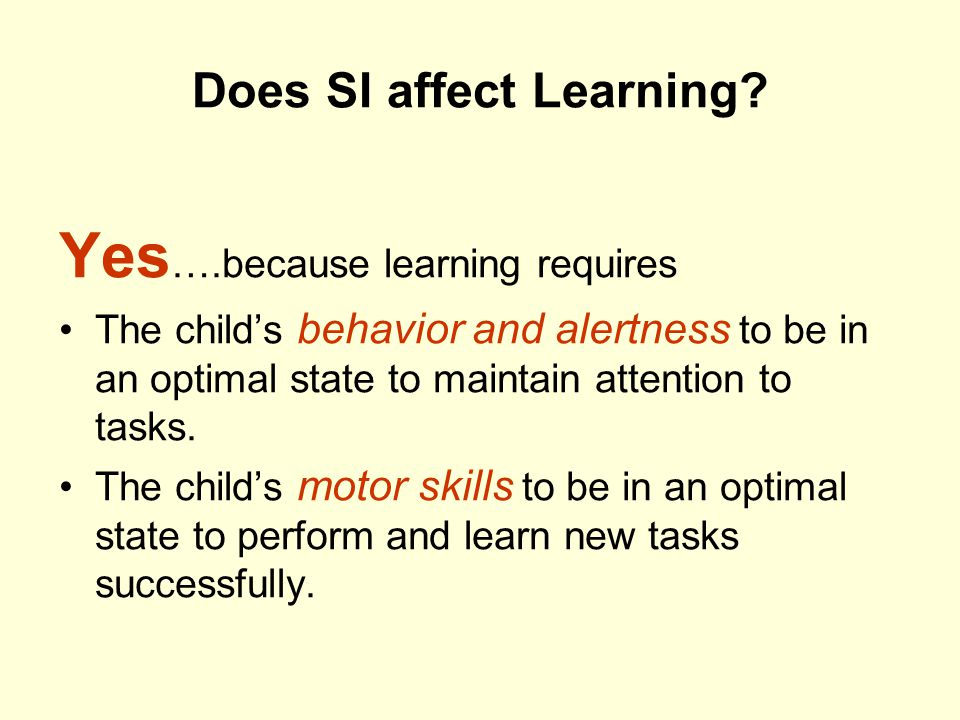 Does SI affect Learning